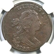 1798 S-172 R-2 NGC VF 20 Draped Bust Large Cent Coin 1c