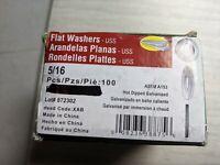 100 5/16 Flat Washers Galvanized Steel