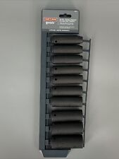 "Craftsman Evolv 1/2"" Drive Metric 10-Piece Deep Impact Socket Set 16887 Tools A3"