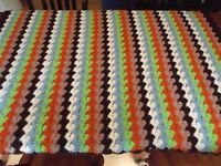 "Vintage Afghan granny GREAT PATTERN Handmade Crochet Quilt Throw Blanket 66""x44"""