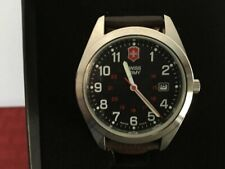 Men's Swiss Army Watch By Victorinox Water Resistant Leather Band NEW IN BOX