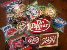 Huge Lot Of Vintage Uniform Patches Name Schlitz Dr Pepper Hamms