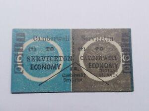 VICTORIAN RAILWAYS TRAIN TICKET CAMBERWELL TO SERVICETON
