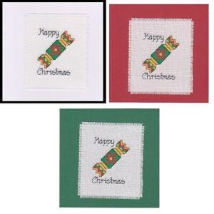 Christmas Cross Stitch Card Kit - Cracker