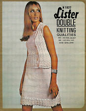 "LADIES CROCHET & KNITTING PATTERN VINTAGE DK BLOUSE & SKIRT SUIT 36-40"" BUST"