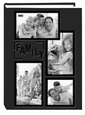 """Family Photo Album Pioneer 4x6"""" 300 Photos Frame Embossed Sewn Leatherette Cover"""