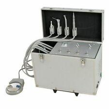 Portable Dental Unit w/ Air Compressor + Suction System + Triplex Syringe 2 Hole
