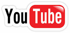 Youtube You Tube video sharing car bumper etichetta sticker 15cm x 7cm