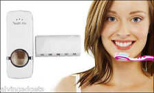 Touch Me Toothpaste Dispenser With Brush Holder(White)