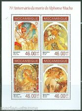 MOZAMBIQUE 75th MEMORIAL ANNIVERSARY OF  ALPHONSE MUCHA SHEET MINT NH