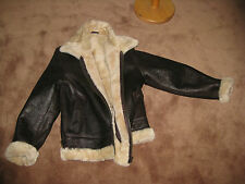 Elegant Mens Aviator B3 RAF real Shearling Sheepskin FUR Flying jckt