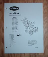 ARIENS 926500 - ST1332DLE, 926501 - ST1336DLE SNO -THRO OWNERS MANUAL