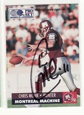CHRIS MOHR SIGNED MONTREAL MACHINE FOOTBALL CARD