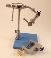 Wolff Atlas Rotary Fly Tying Vise Pedestal & Clamp Base 7/0 to Size 32 Hooks