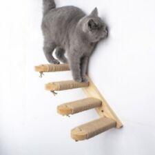 Wall mounted Cat Climbing Ladder Wood Stair Jumping Platform Climbing Home lskn