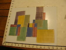 "Original ROSE SUSLOVICH ART: mounted CUT-OUT -----"" BUILDINGS FOR SALE"""
