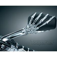 Skull Hands Rearview Mirrors For Yamaha Virago XV 250 500 535 700 750 920 1100