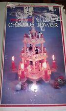 Vintage German Style 3 Tier Christmas Windmill Pyramid Nativity Carousel