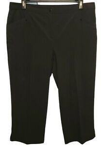 Zenergy Golf Chico's Black Capri Cropped Pants Size 3 US Size XL/16