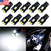 10 X Canbus Error Free White T10 5630 6SMD Wedge LED Light bulbs W5W 194 168