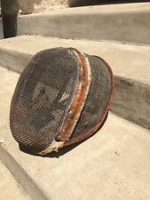 RARE ANTIQUE LEATHER FENCING MASK SPAIN/FRANCE METAL WIRE