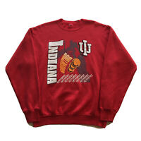 Vintage 90s Indiana University Hoosiers Sweatshirt Mens XL College Basketball OG