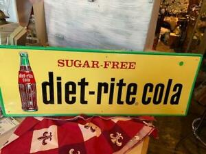 Old Sugar Free Diet Rite Cola Advertising Sign
