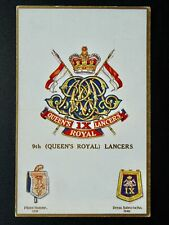 More details for regimental badges the 9th queen's royal lancers postcard by gale & polden 1696