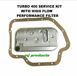 TH400/ T400/ TURBO 400 auto trans service kit includes (HI-FLOW) filter and p...