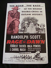 RAGE AT DAWN movie poster RANDOLPH SCOTT Original 1963 One sheet