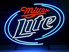 "New Miller Lite Beer Lager Bar Man Cave Neon Sign 17""x14"""