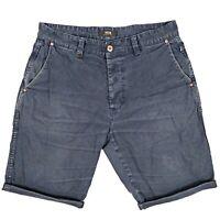 NEUW Ray Tapered Men's Shorts Size 32 Blue Distressed Denim Australian Designer