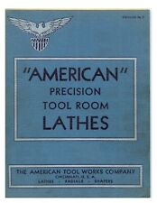 1934 American Tool Works Precision Lathes Radials Amp Shapers Catalog 5