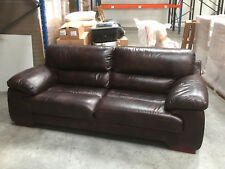 Dark Brown Soft Leather Settee