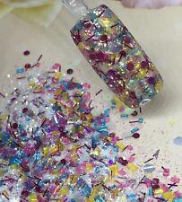 glitter mix acrylic gel nail art   PRETTY PARTY