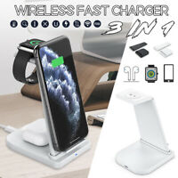 3In1 Qi Wireless Charger For Apple Watch phone  Headset Fast Charging Stand  W