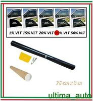 Antigraffio Pellicola Oscurante Per Vetri Auto Nero 35% 76cm X 3m Privacy