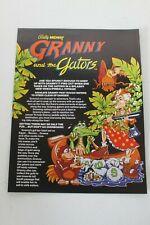 Original Bally Pinball Arcade Game Granny And The Gators - Flyer- Original