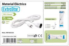 Cable Extensible Extension Alargador de Enchufe 3G1.5mm de 3m 5m 10m Extrastar