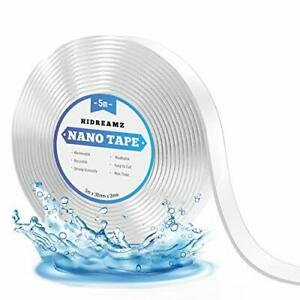 5M Strong Reusable Nano Adhesive Tape, Traceless Washable Double Sided Tape