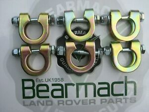 Land Rover Series 1, 2, 3, Track Rod End Ball Joint Clamp Bolt kits x 6