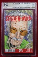 STAN LEE & SPIDER-MAN PGX 9.8 NM/MT sketch cover GARY SHIPMAN colors STEVE LYDIC