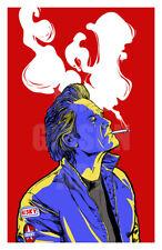 "Original ""Stuntman Mike"" Art Print Blu Poster Death Proof Horror Mondo Color"