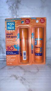 2x Kiss My Face Sport Hot Spots SPF 30, 0.5 oz each
