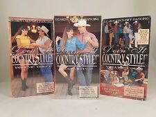 Set of 3 Vhs Tapes Learn Country Dancing Doin It Country Style Instructional