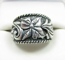 Carolyn Pollack Sterling Silver Flower Band Ring Sz 7