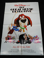 THE GREAT MOUSE DETECTIVE 1986 * WALT DISNEY ANIMATED ADVENTURE * MINT ONE SHEET