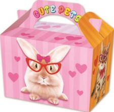 10 Cute Pets Boxes - Toy Loot/Party Bag Lunch Wedding/Kids Food Meal Animal Fun
