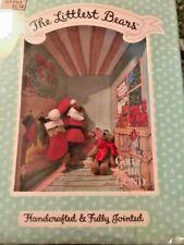 Gund The Littlest Bears #7010! Santa Claus and Elf Nib 1994