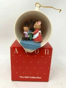 Vintage 1980 Avon Merry Mice Treat Light Up Ornament Cozy Kitchen Measuring Cup